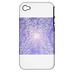 Purple Cubic Typography Apple iPhone 4/4S Hardshell Case (PC+Silicone)