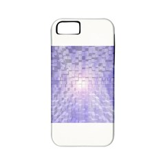 Purple Cubic Typography Apple iPhone 5 Classic Hardshell Case (PC+Silicone)
