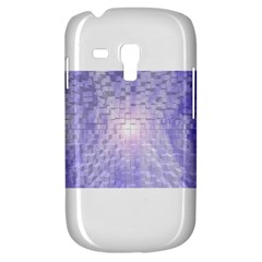 Purple Cubic Typography Samsung Galaxy S3 Mini I8190 Hardshell Case
