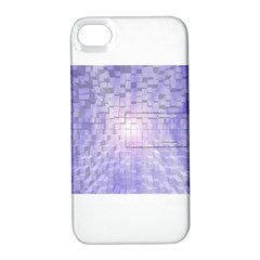 Purple Cubic Typography Apple Iphone 4/4s Hardshell Case With Stand