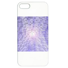 Purple Cubic Typography Apple iPhone 5 Hardshell Case with Stand