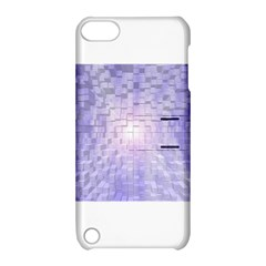 Purple Cubic Typography Apple Ipod Touch 5 Hardshell Case With Stand