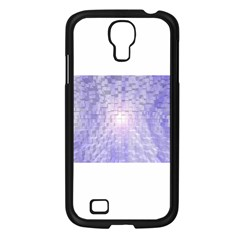 Purple Cubic Typography Samsung GALAXY S4 (Black)