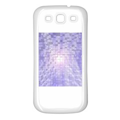 Purple Cubic Typography Samsung Galaxy S3 Back Case (White)