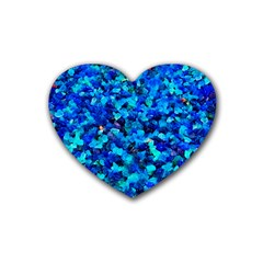 Colorful Blue Pebbles Drink Coasters 4 Pack (heart)