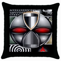 Portal Black Throw Pillow Case