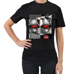 Portal Womens' Two Sided T-shirt (Black)