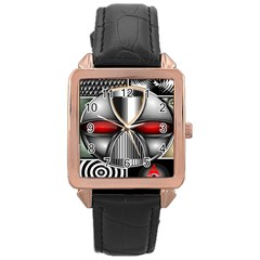 Portal Rose Gold Leather Watch