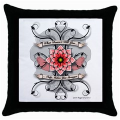What Doesn t Kill You Black Throw Pillow Case