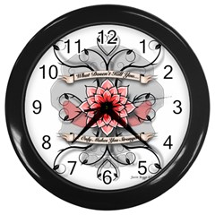 What Doesn t Kill You Wall Clock (black)