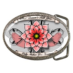 What Doesn t Kill You Belt Buckle (Oval)