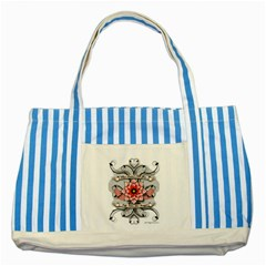 What Doesn t Kill You Blue Striped Tote Bag