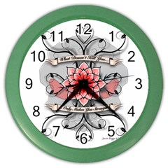 What Doesn t Kill You Wall Clock (Color)