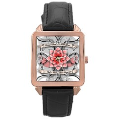 What Doesn t Kill You Rose Gold Leather Watch