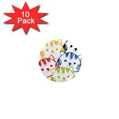 kawaii cat faces 1  Mini Button Magnet (10 pack)