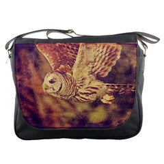 Barred Owl Messenger Bag