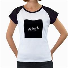 Moink Logo Women s Cap Sleeve T-Shirt (White)