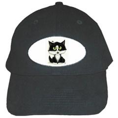 Tuxedo Cat Black Cap