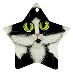 Tuxedo Cat Ornament (Star)