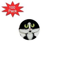 Tuxedo Cat 1  Mini Button (100 Pack)