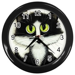 Curiouskitties414 Wall Clock (black)