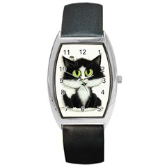 Curiouskitties414 Tonneau Leather Watch