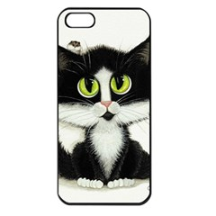 Curiouskitties414 Apple iPhone 5 Seamless Case (Black)