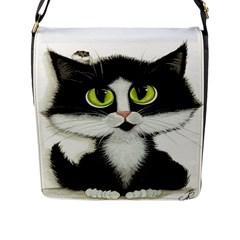 Curiouskitties414 Flap Closure Messenger Bag (Large)