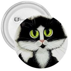 Tuxedo Cat by BiHrLe 3  Button