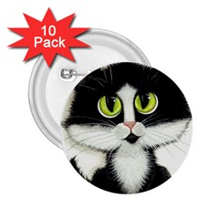 Tuxedo Cat by BiHrLe 2.25  Button (10 pack)