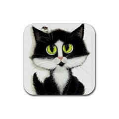Tuxedo Cat By Bihrle Drink Coaster (square)