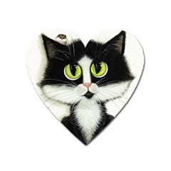 Tuxedo Cat by BiHrLe Magnet (Heart)