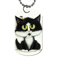 Tuxedo Cat By Bihrle Dog Tag (one Sided)