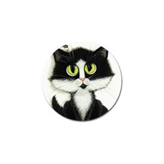 Tuxedo Cat By Bihrle Golf Ball Marker 4 Pack