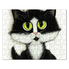 Tuxedo Cat by BiHrLe Jigsaw Puzzle (Rectangle)