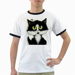 Tuxedo Cat By Bihrle Mens' Ringer T Shirt