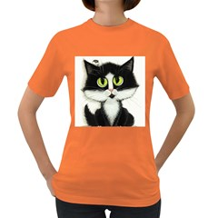 Tuxedo Cat by BiHrLe Womens' T-shirt (Colored)