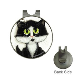 Tuxedo Cat by BiHrLe Hat Clip with Golf Ball Marker