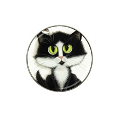 Tuxedo Cat by BiHrLe Golf Ball Marker (for Hat Clip)