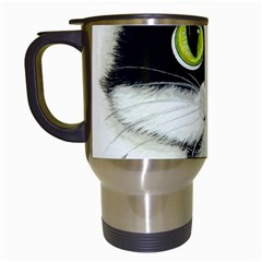 Tuxedo Cat by BiHrLe Travel Mug (White)