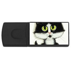 Tuxedo Cat by BiHrLe 4GB USB Flash Drive (Rectangle)