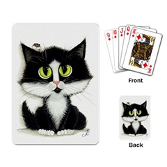 Tuxedo Cat By Bihrle Playing Cards Single Design