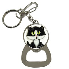 Tuxedo Cat By Bihrle Bottle Opener Key Chain