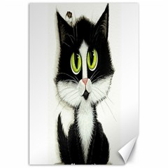 Tuxedo Cat by BiHrLe Canvas 20  x 30  (Unframed)