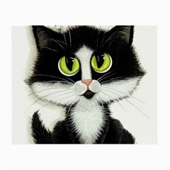 Tuxedo Cat By Bihrle Glasses Cloth (small, Two Sided)