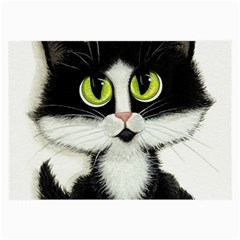 Tuxedo Cat by BiHrLe Glasses Cloth (Large, Two Sided)