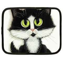Tuxedo Cat by BiHrLe Netbook Case (Large)