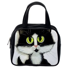 Tuxedo Cat by BiHrLe Classic Handbag (One Side)