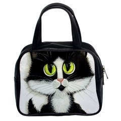 Tuxedo Cat by BiHrLe Classic Handbag (Two Sides)