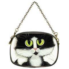 Tuxedo Cat By Bihrle Chain Purse (one Side)